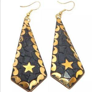 Tibetan handmade dangling earrings